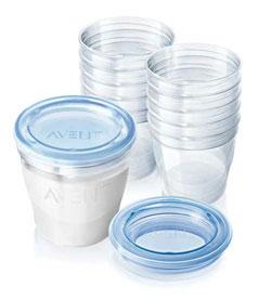 beholder til opbevaring af modermælk