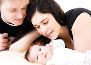 Mor far og baby