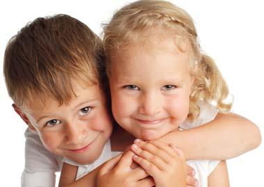 2 søde børn