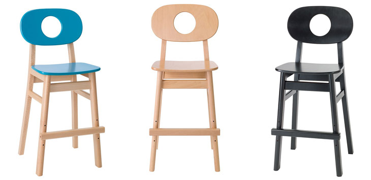 Hukit højstol i 3 farver