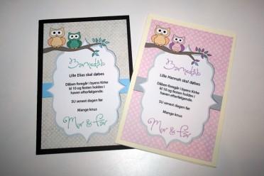 invitation til dåb dreng og pige