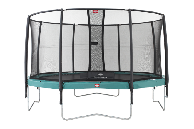 Stor grøn trampolin