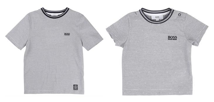 Grå børne t-shirts fra Hugo Boss