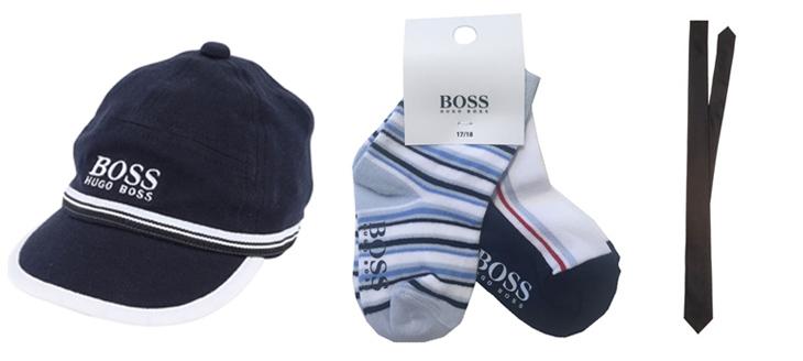 Kasket, strømper og slips fra Hugo Boss