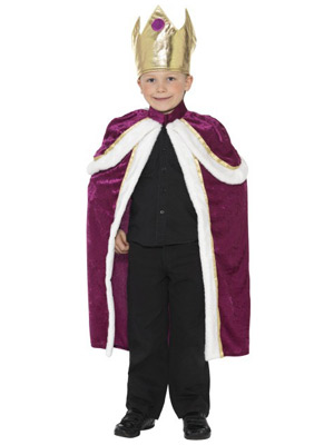 dreng i konge kostume