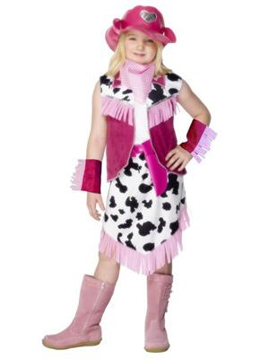 pige i cowgirl kostume