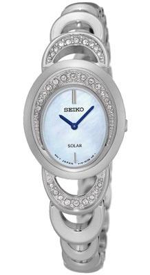 Seiko ur med stål lænke og krystaller