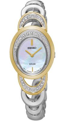 Seiko ur med lænke i sølv og guld
