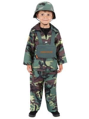 dreng i soldat kostume