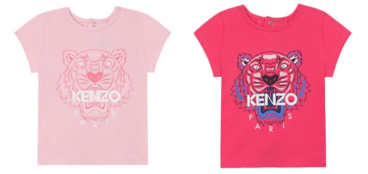 Lyserød og pink t-shirt fra Kenzo Kids
