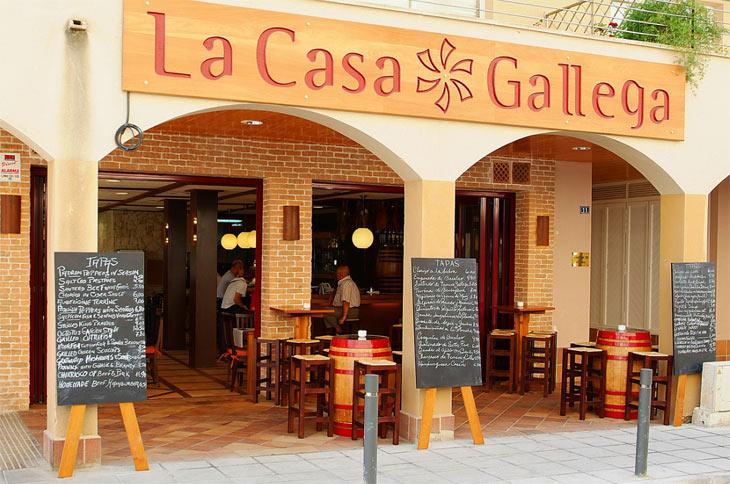 Facade på La Casa Gallega restaurant, Alcudia