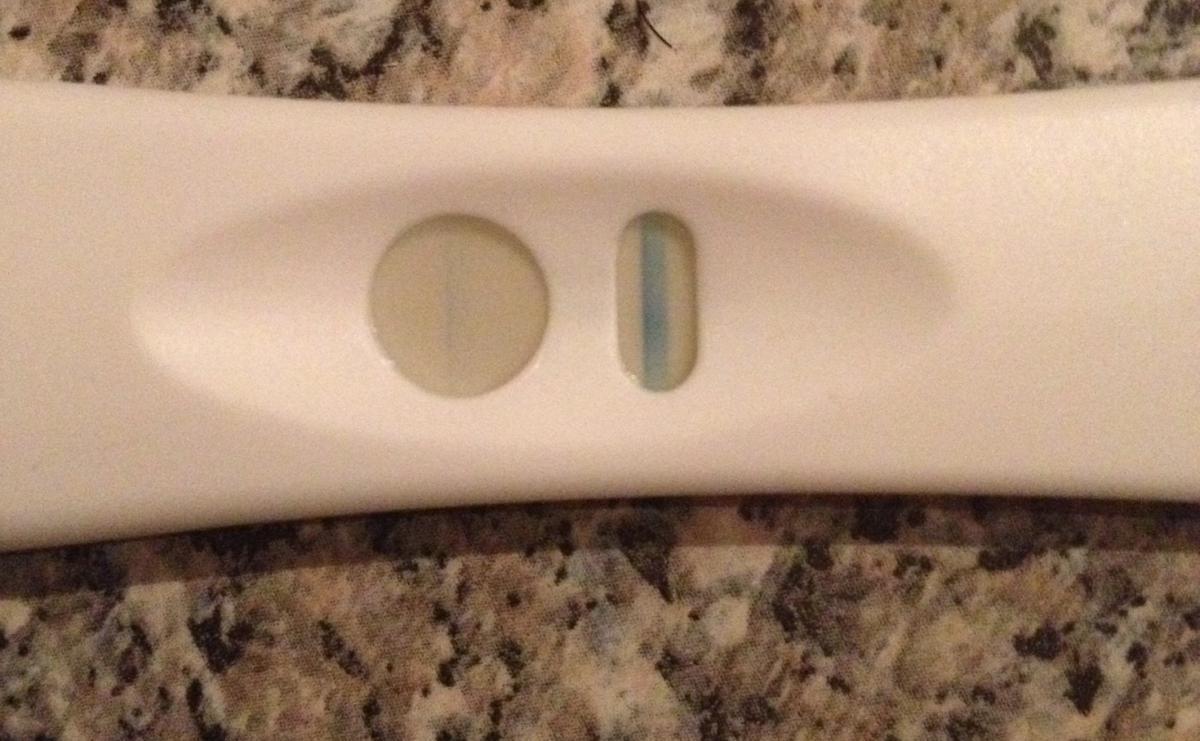 Graviditetstest svag streg