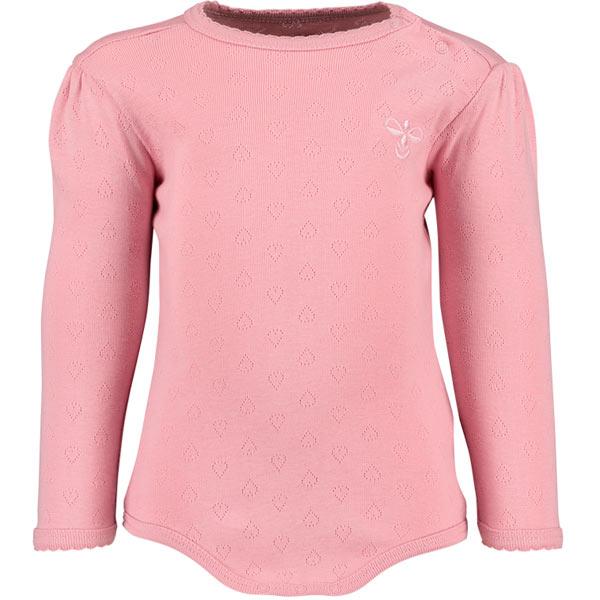 rosa bodystocking med hulmønster