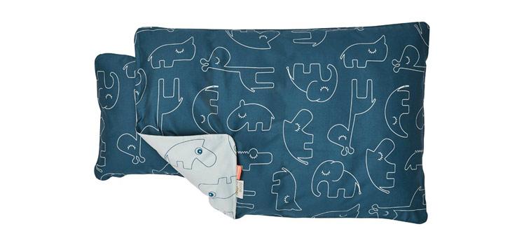 baby-sengetøj-blå-dyr