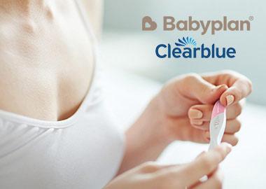 Kvinde med graviditets test