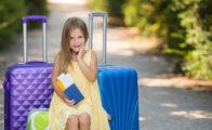 Barn rejse uden mor og far