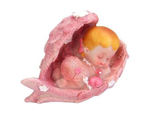 figur med baby der sover