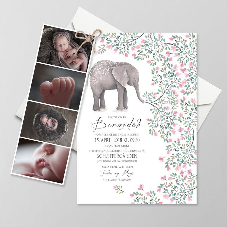 barnedåbsinvitation-med-elefant-motiv