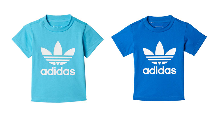 turkis og navy blå adidas t-shirt