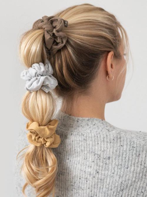 Fine silkebløde scrunchies fra Kooshoo