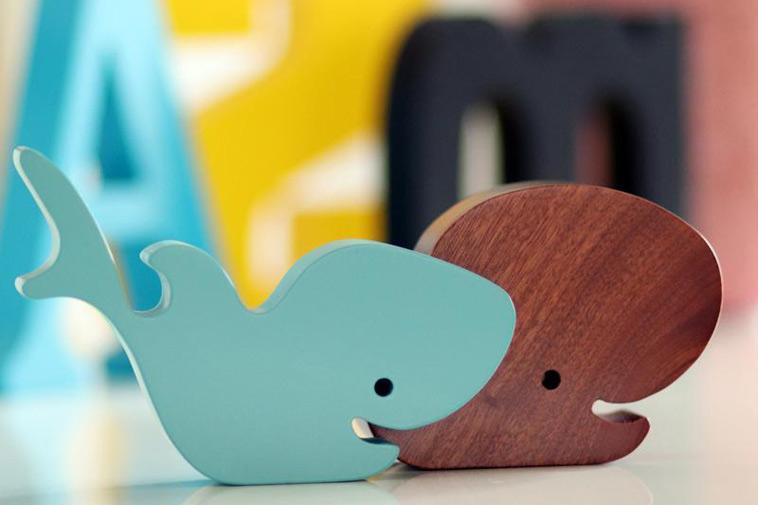hval og haj træfigur