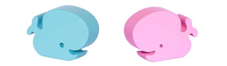 lyserød og lyseblå hvalfirgurer