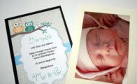 Flot invitation til barnedåb