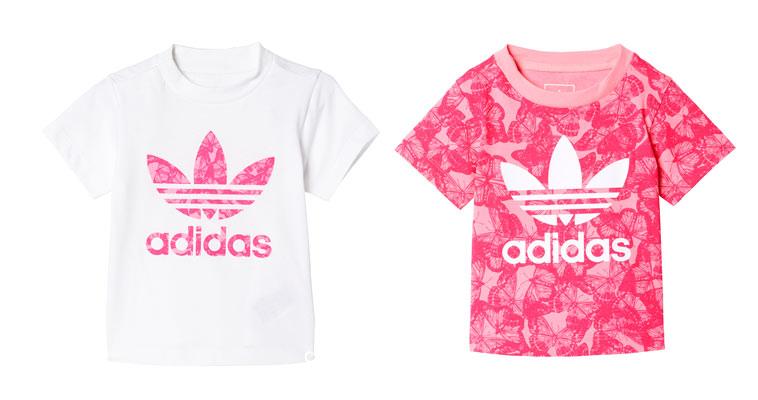 hvid og lyserød adidas t-shirt