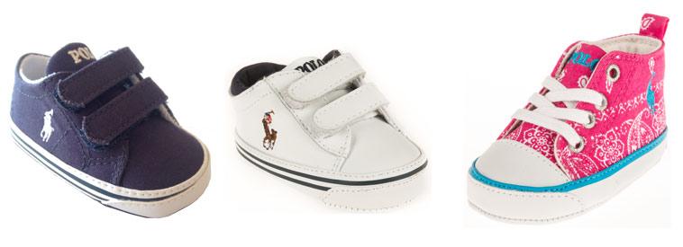 Baby sneakers fra Ralph Lauren
